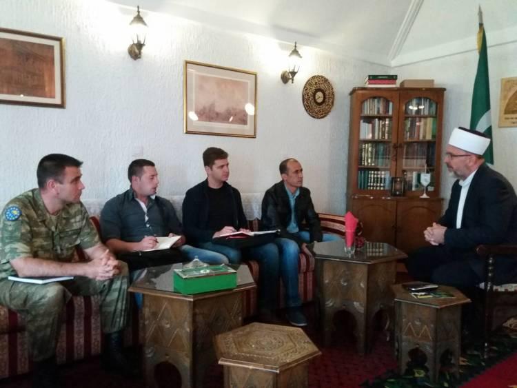 Predstavnici Turske vojne misije u BiH posjetili Muftijstvo travničko