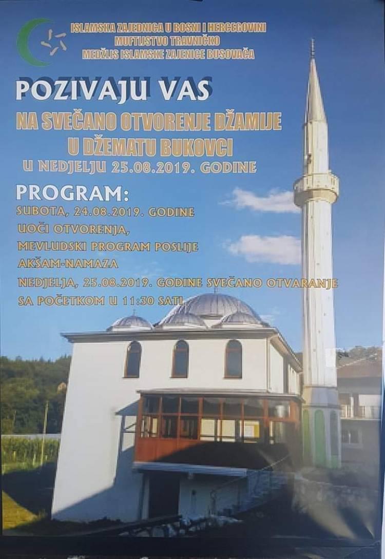 Otvorenje Džamije u džematu Bukovci